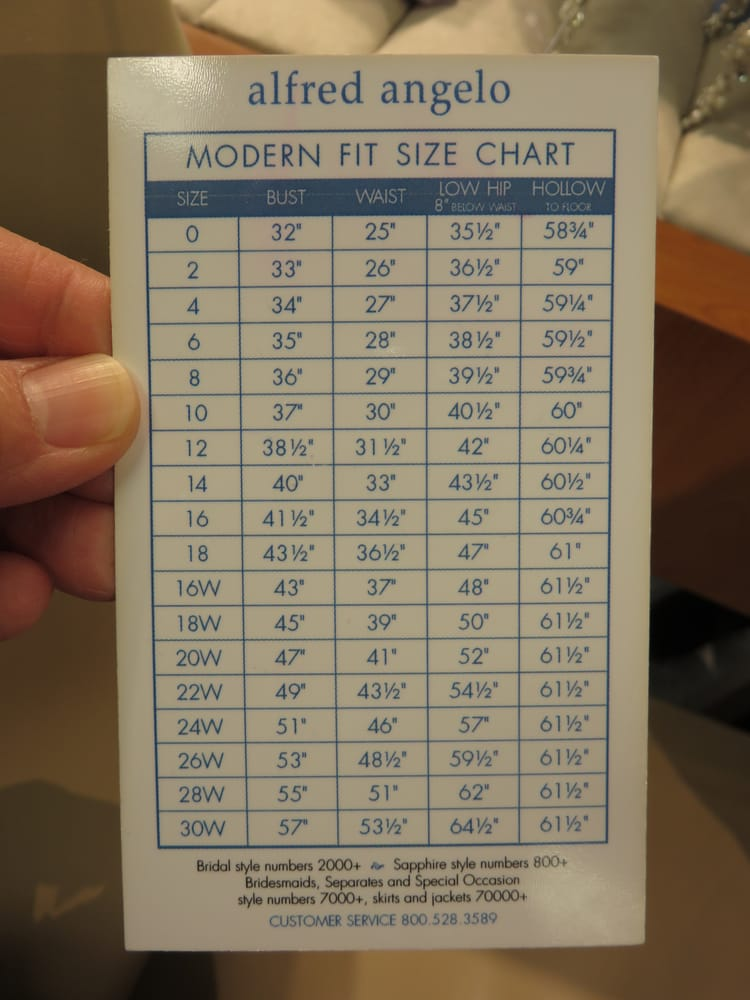 Alfred angelo bridal modern fit size chart 1 2016 yelp