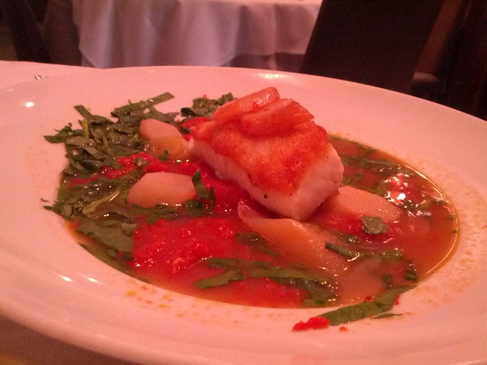 Pan Seared Chilean Sea Bass w Smoked Scallops - Yelp