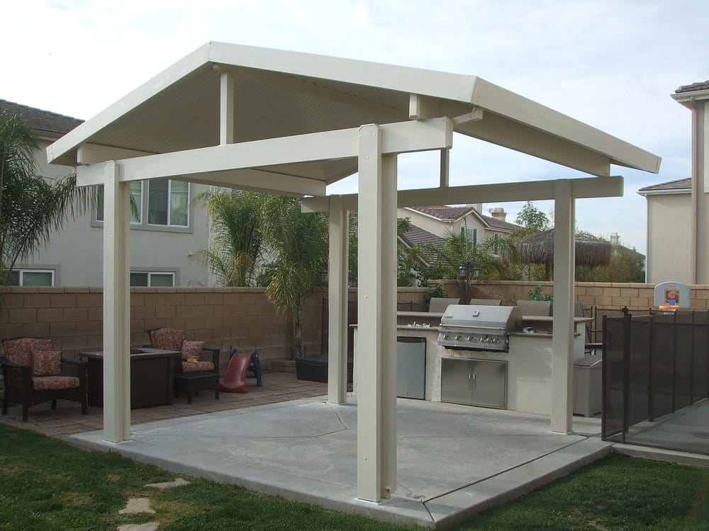 Alumawood patio cover free standing gable yelp for Freestanding patio cover