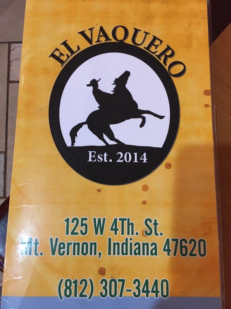 El Vaquero: 125 West 4th St, Mount Vernon, IN