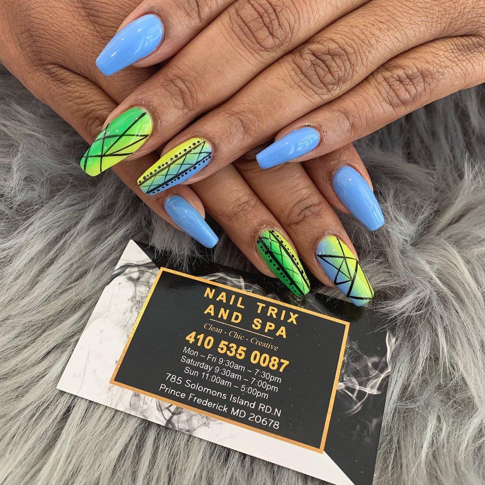 nail trix & spa: 785 Solomons Island Rd N, Prince Frederick, MD