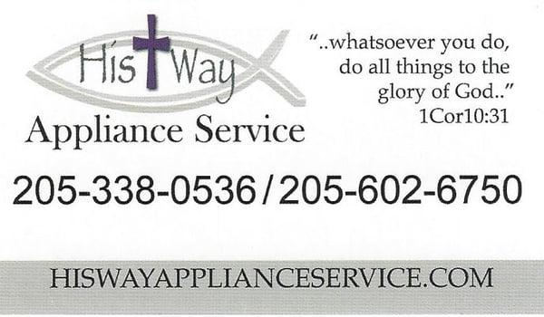 his way appliance service - get quote - appliances  u0026 repair - riverside  al - phone number
