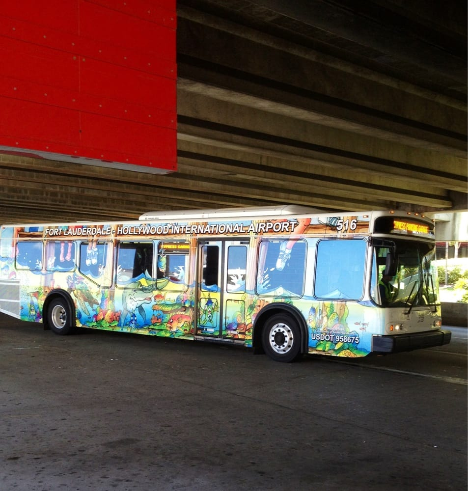 Fort Lauderdale Car Rental Shuttle To Port Everglades: Cool Bus
