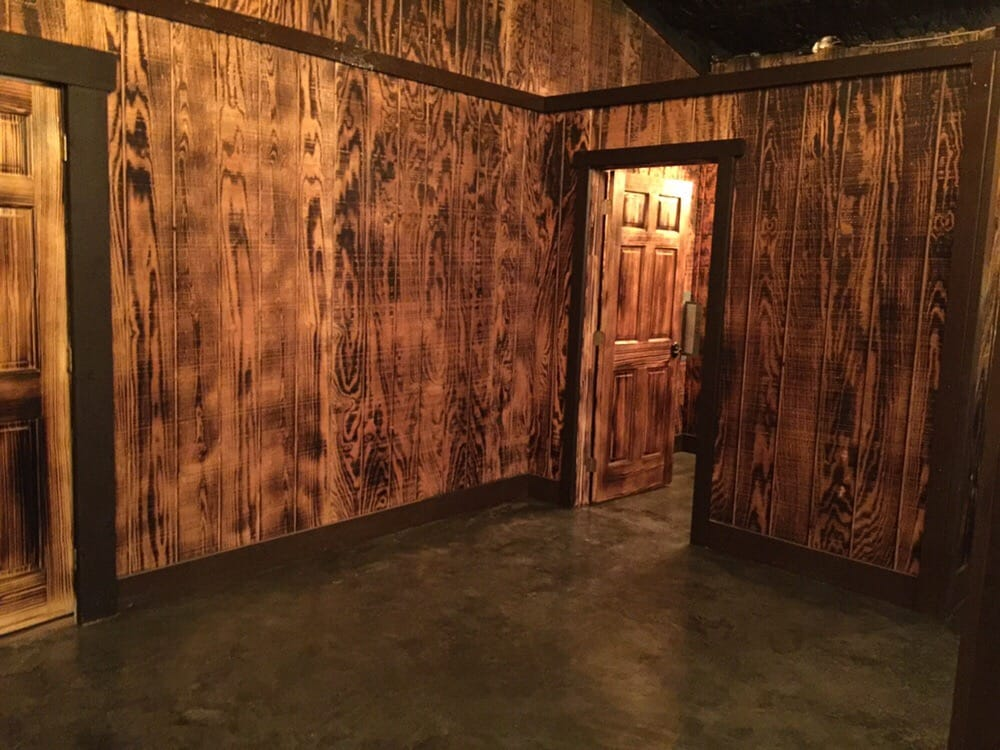 Interior Of Man Cave Burnt T1 11 Siding With Clearcoat