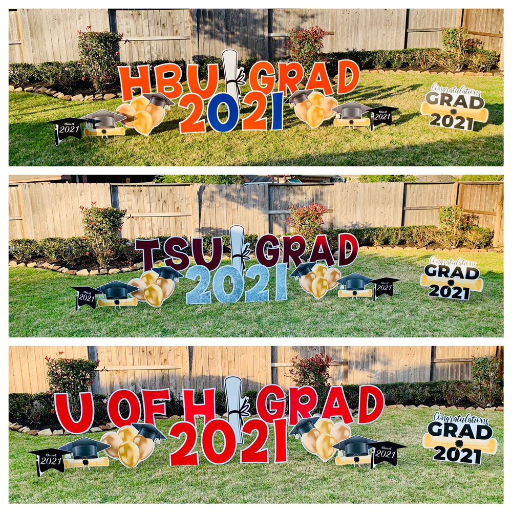 YardyParty Custom Lawn Greetings: Rosharon, TX
