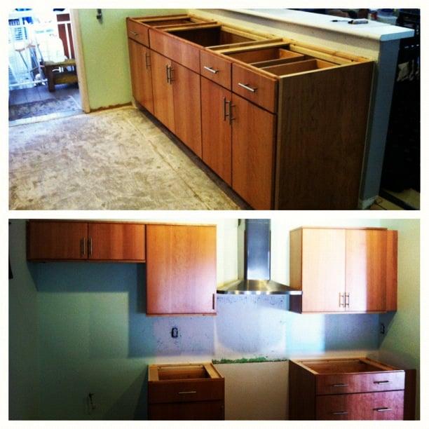 Kitchen Cabinets Honolulu: Custom Made Cabinets W/ Cherry Slab Style Doors. Cabinets