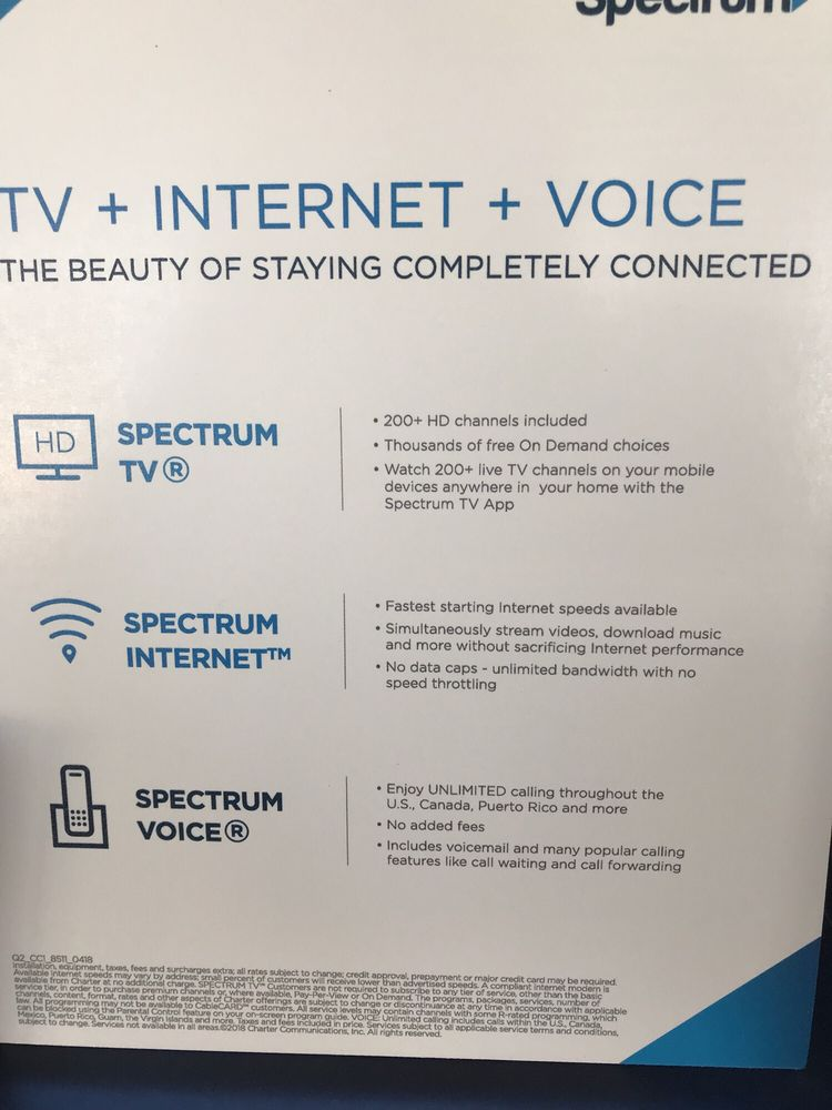 This is what Spectrum cable looks like  - Yelp