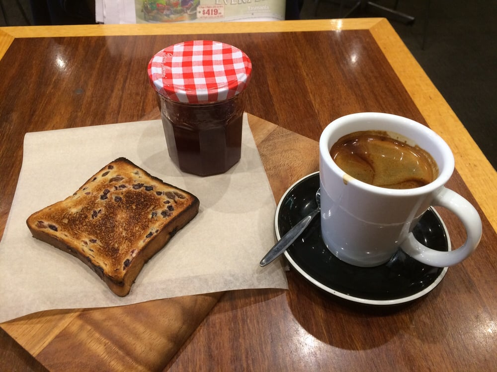 Photo Of Short Black Cafe Camberwell Victoria Australia Fruit Toast And Long