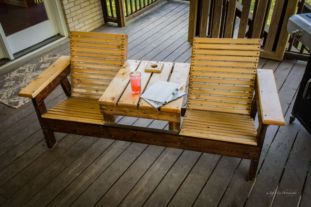 Double Adirondack Chair With Center Table Yelp