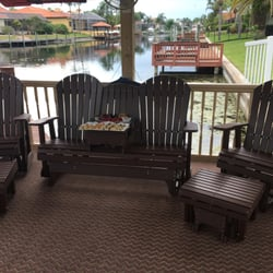 Photo Of Patio Casual Oldsmar Fl United States Glider Bench With Optional