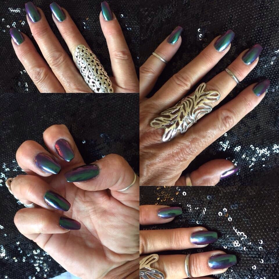 I just love my new metallic nails and great job ! - Yelp