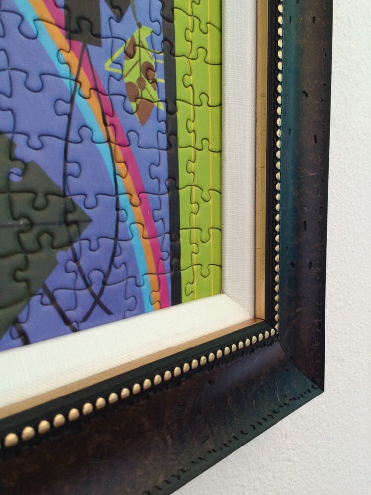 Beautiful frame and border to make the colors Pop on this puzzle ...