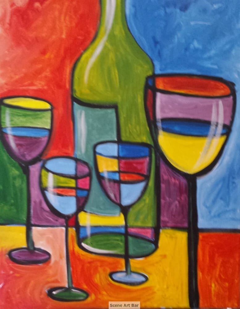 Photos for scene art bar yelp for Wine and painting mn
