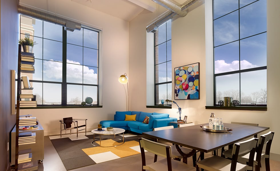 Most apartments offer 13ft windows for great views! - Yelp