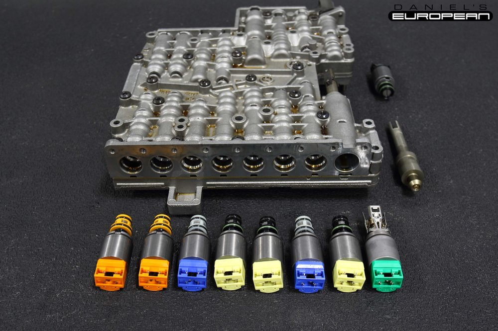 2009 BMW 528i transmission valve body removed to replace faulty