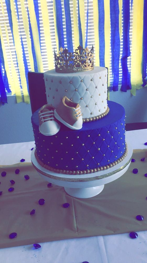 My Royal Prince Baby Shower Cake Thanks To Jaynee Cakes Yelp