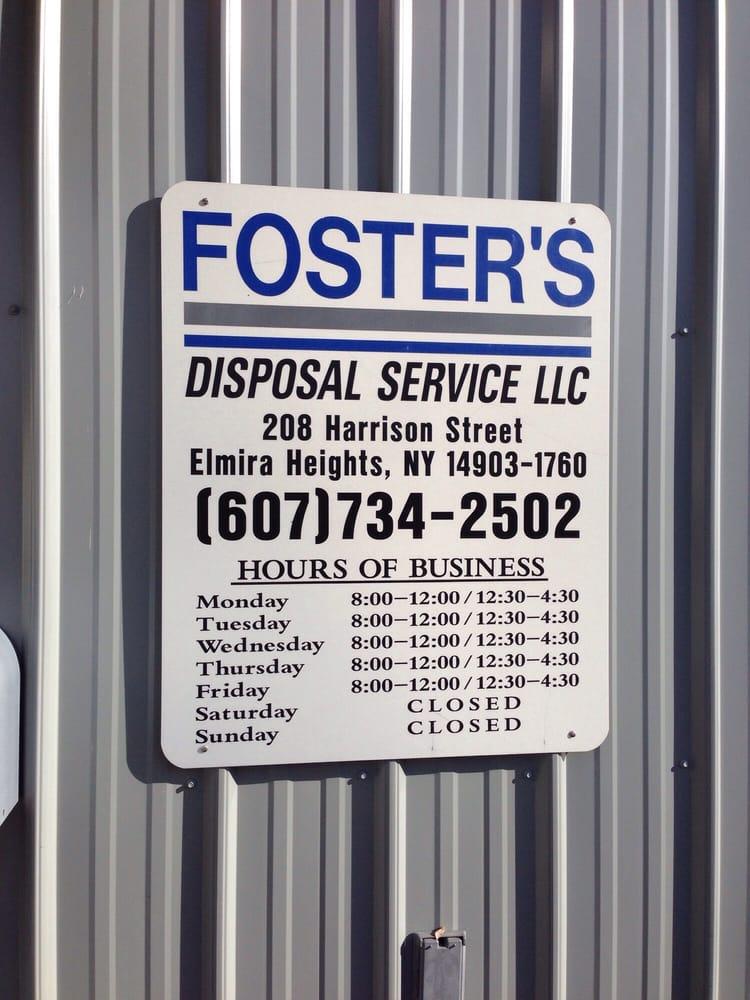 Foster's Disposal Svce: 208 Harrison St, Elmira, NY