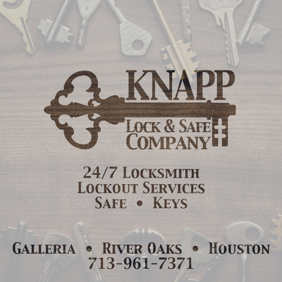 Knapp Lock & Safe Company 3262 Westheimer Rd Houston, TX Locksmiths