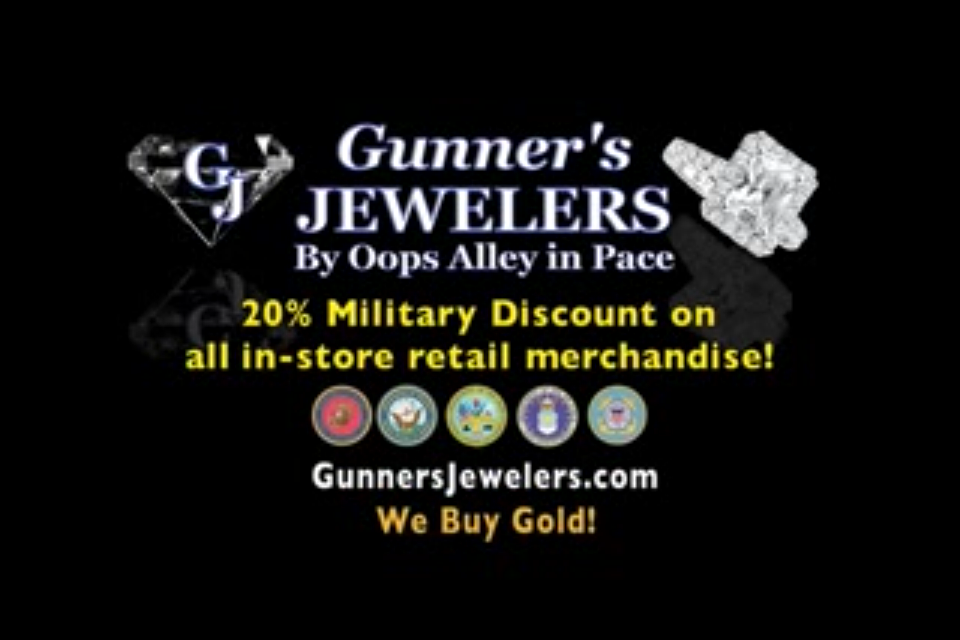 Gunner's Gulf Coast Jewelers & Gifts: 4375 5th Ave, Pace, FL