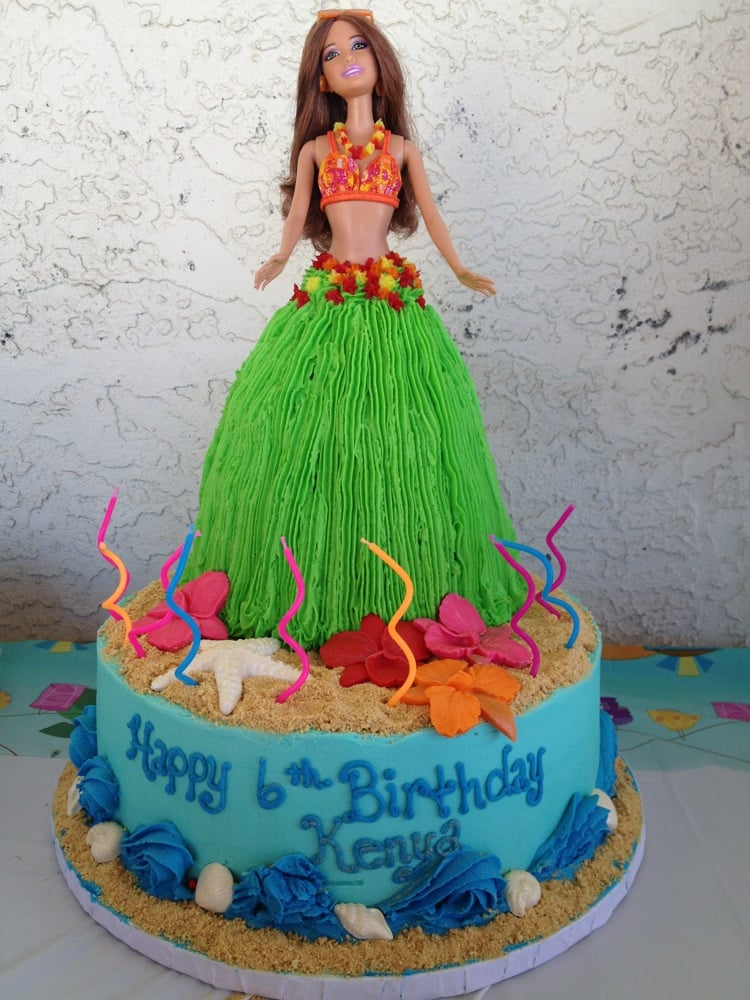 Luau Birthday Cake Hula Barbie Yelp