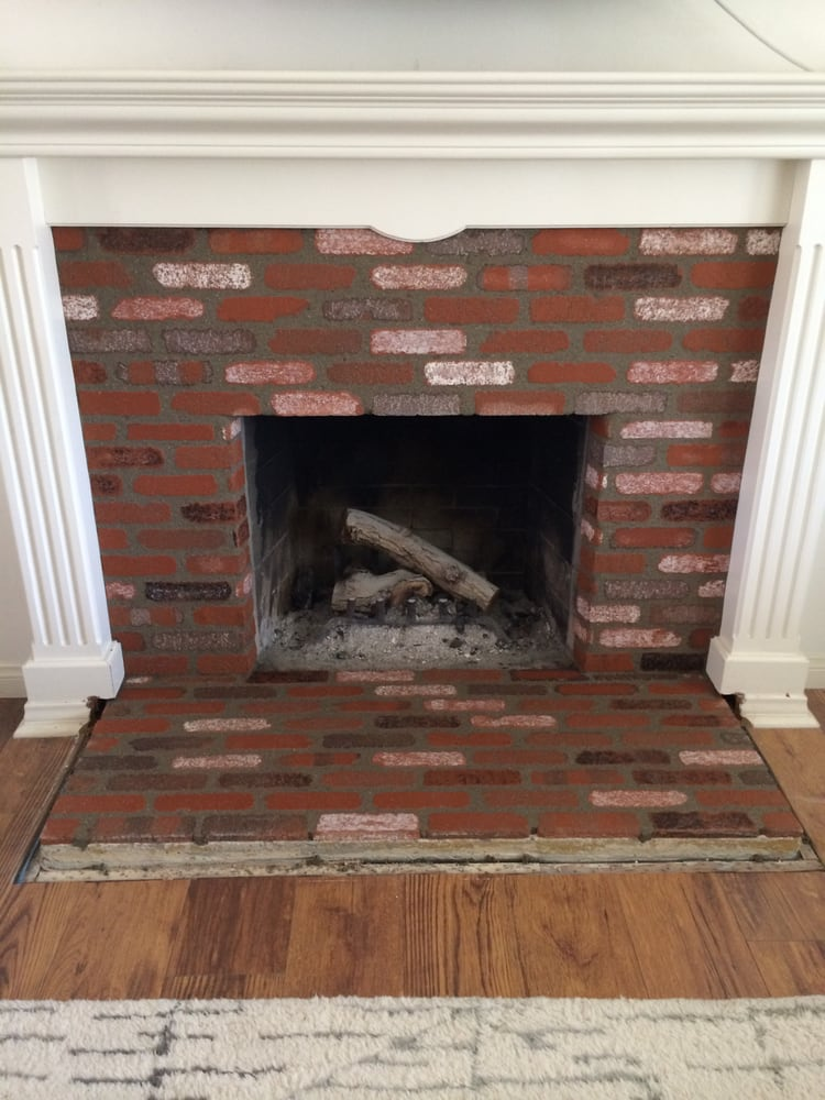 Groovy Brick Veneer Fireplace Yelp Beutiful Home Inspiration Semekurdistantinfo