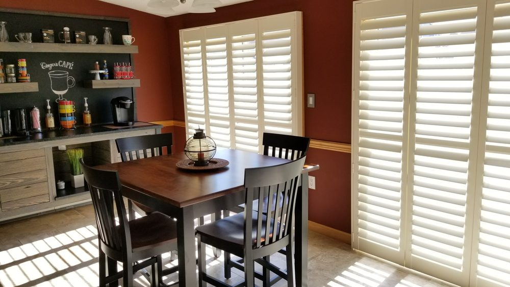 Hunter Douglas New Style Faux Wood Shutters For Sliding Glass Door
