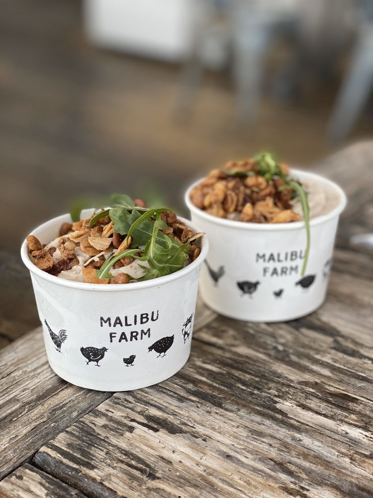 Food from Malibu Farm Restaurant