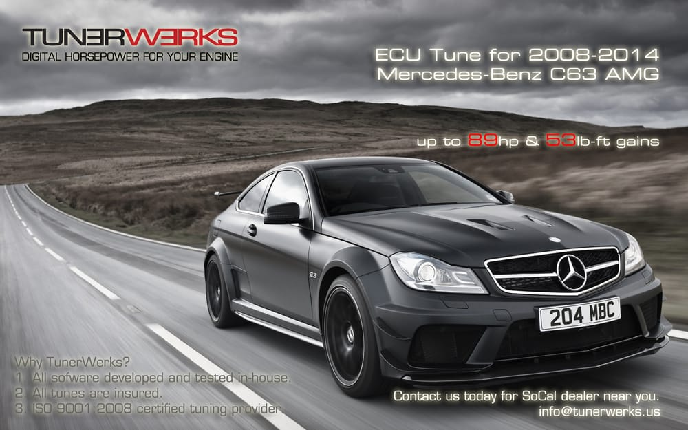 ECU tune available for W204 Mercedes-Benz C63 AMG - Yelp