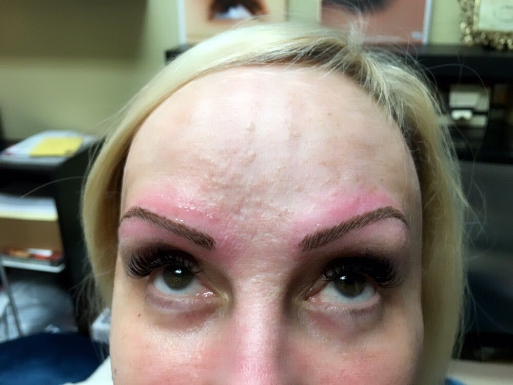Microbranding On Top Her Old Eyebrows Tattoos Yelp