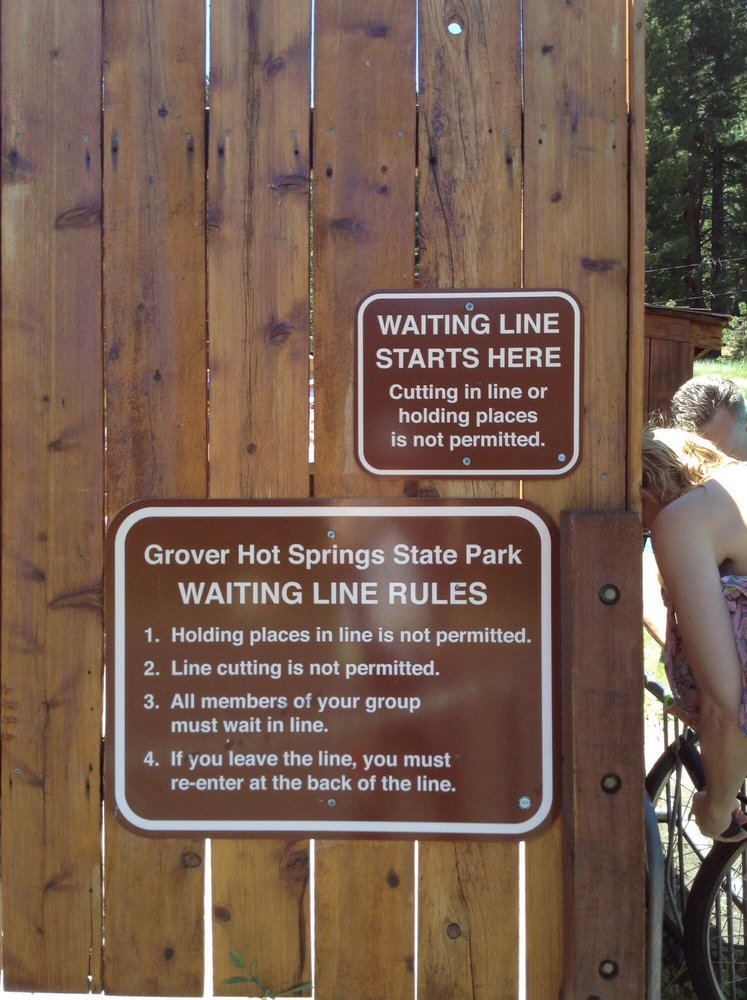 Photo of Grover Hot Springs - Markleeville, CA, United States. Sometimes there is a line. Show up early.