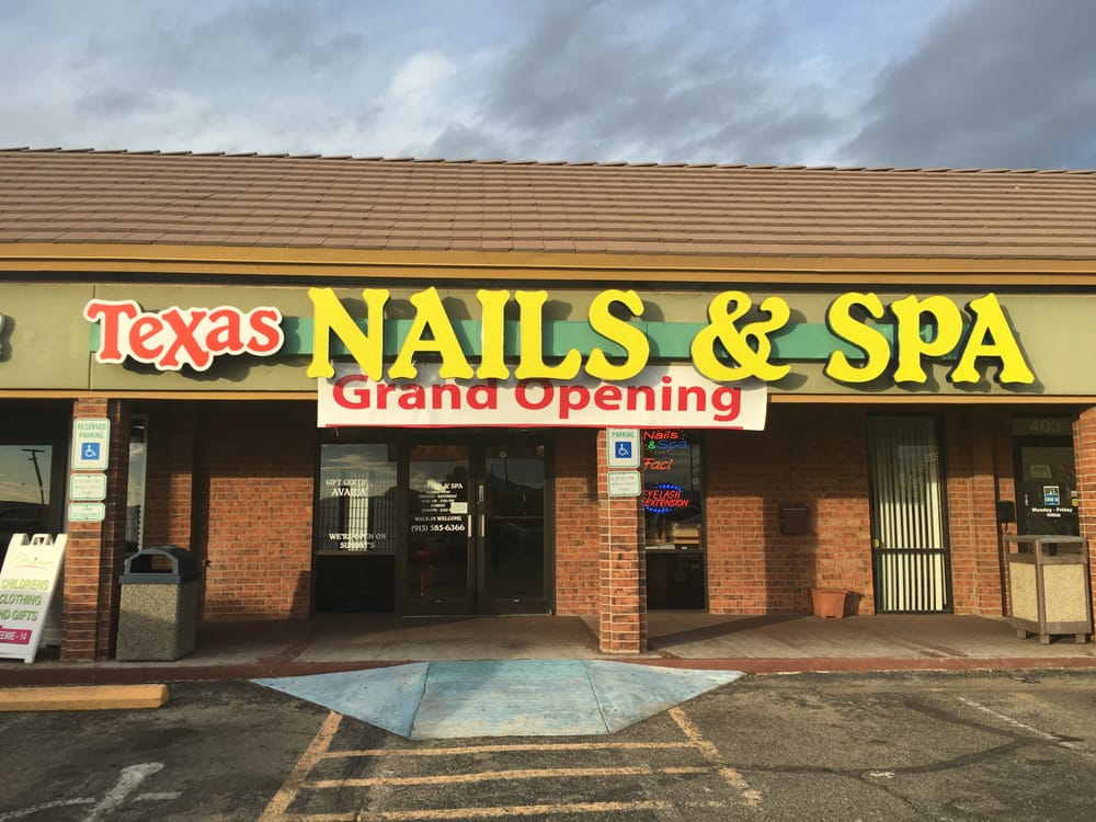 Texas Nails & Spa: 6600 N Mesa St, El Paso, TX