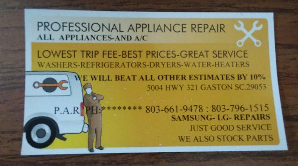 Professional Appliance Repair: 5004 US 321, Gaston, SC