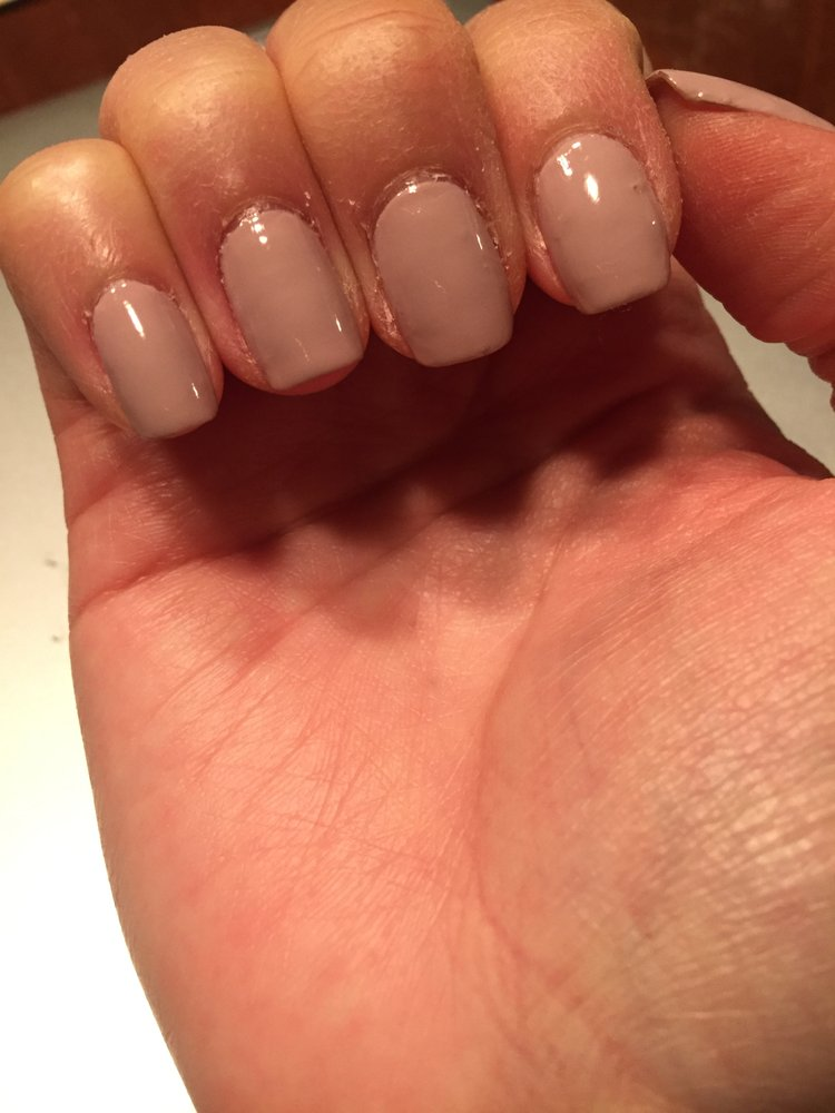 Nice nail shape, but poorly cut cuticles and bubble in the paint - Yelp