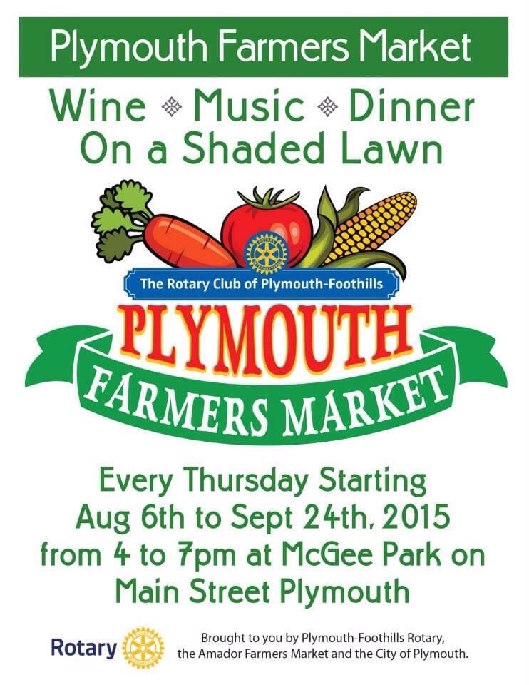 Plymouth Farmers Market: 18664 Poplar St, Plymouth, CA