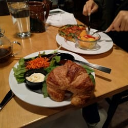 Photo Of Stomping Grounds Ames Ia United States Vegiterian And Croissant Sanwhich