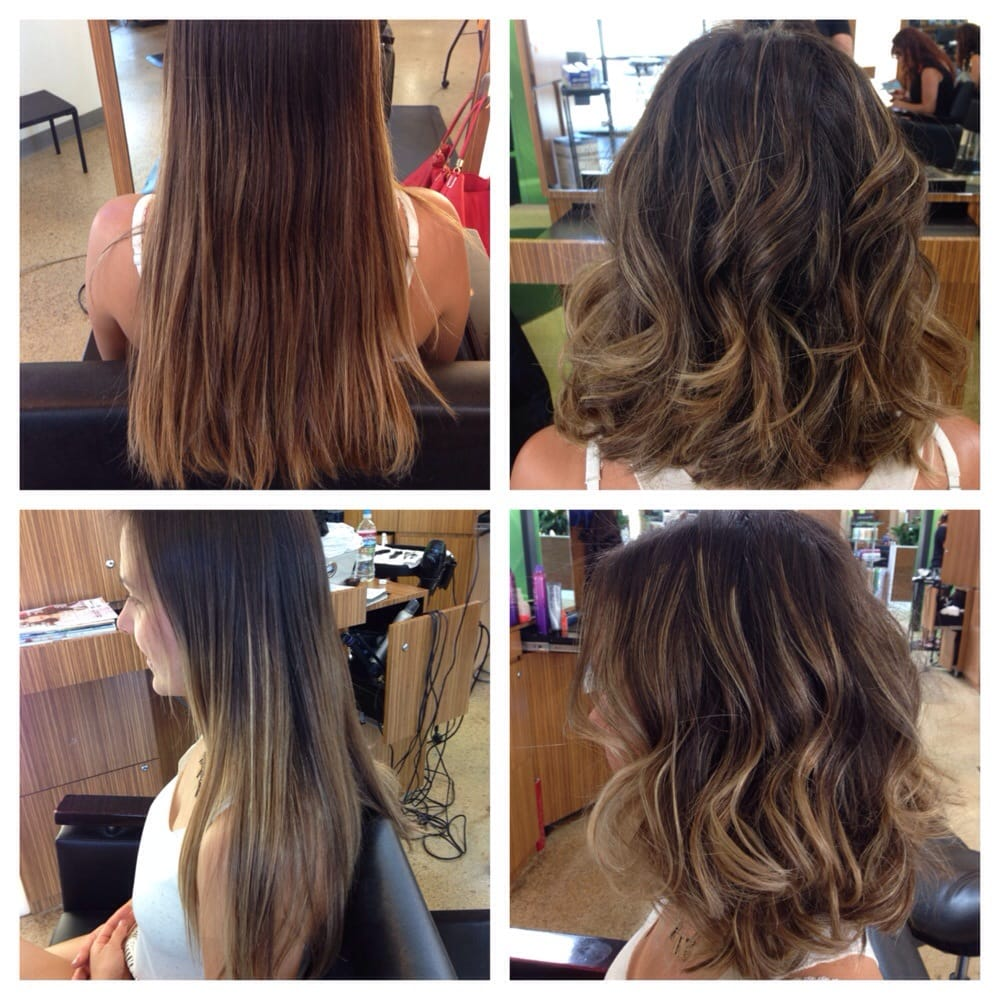 Before And After Lob With Natural Balayage Yelp