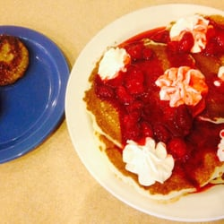 Photo Of Country Kitchen Baxter Mn United States Strawberry Cream Cheese Pancakes