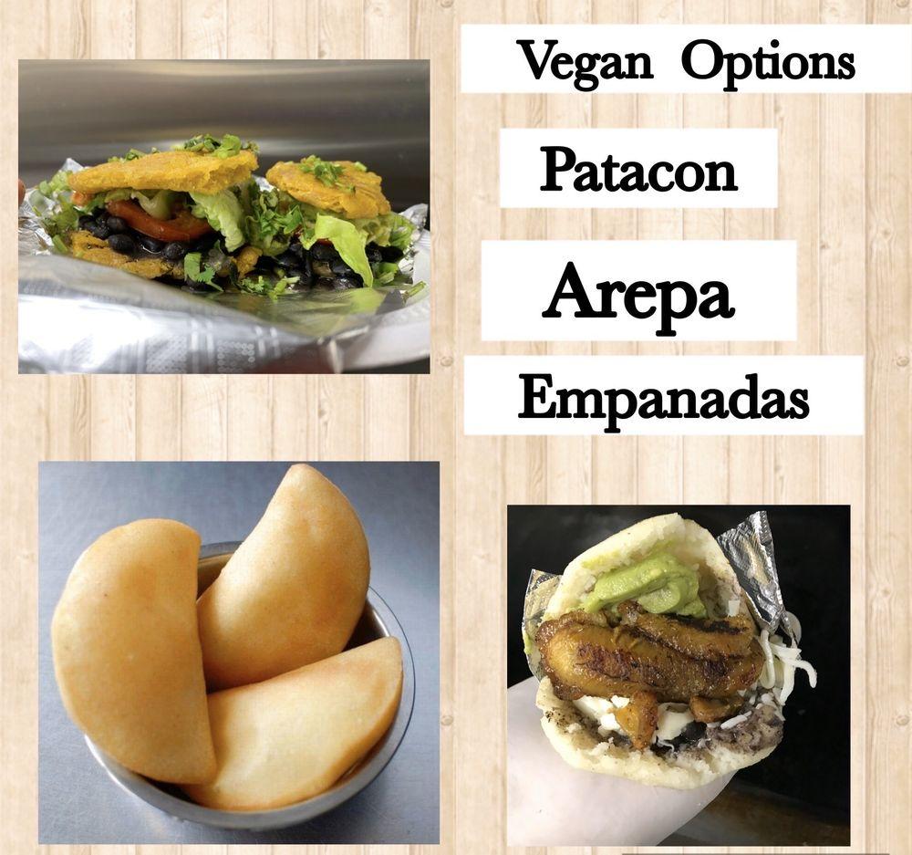 Food from Na'Wara de Arepa