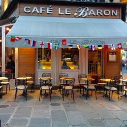 Caf Ef Bf Bd Le Baron  Rue De Chateaudun  Paris