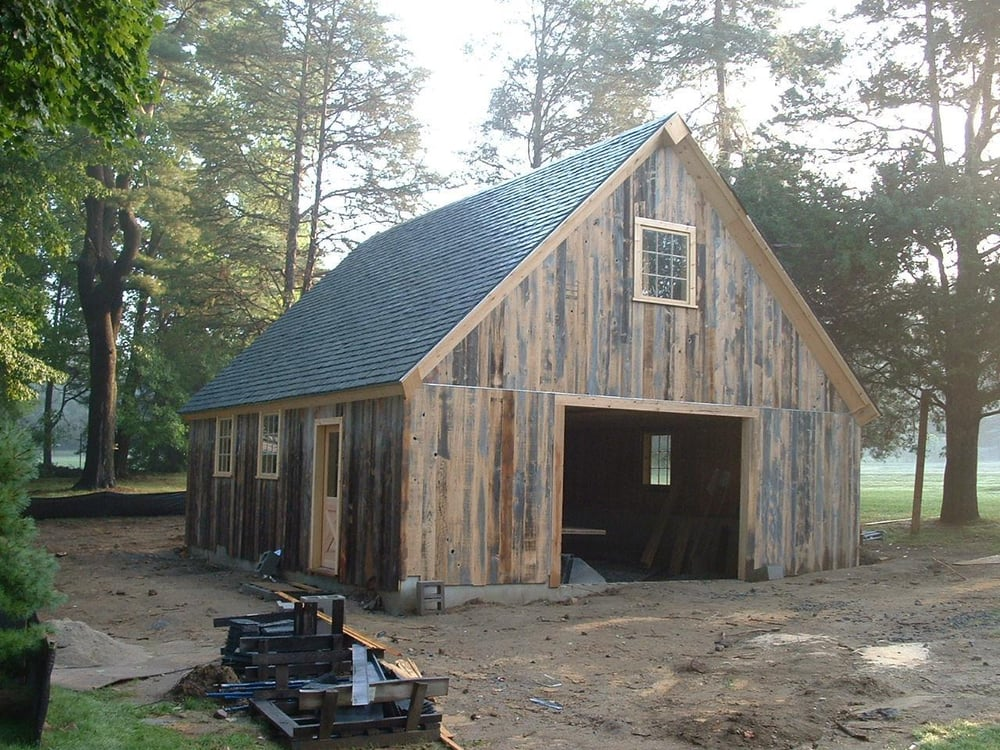 Newly Constructed Storage Barn Built With Reclaimed New