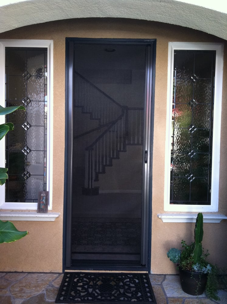 Tall bronze retractable roll away screen door yelp