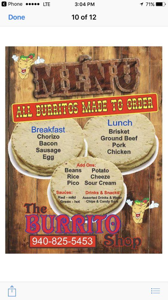 The Burrito Shop: 203 A W Hwy 82, Nocona, TX
