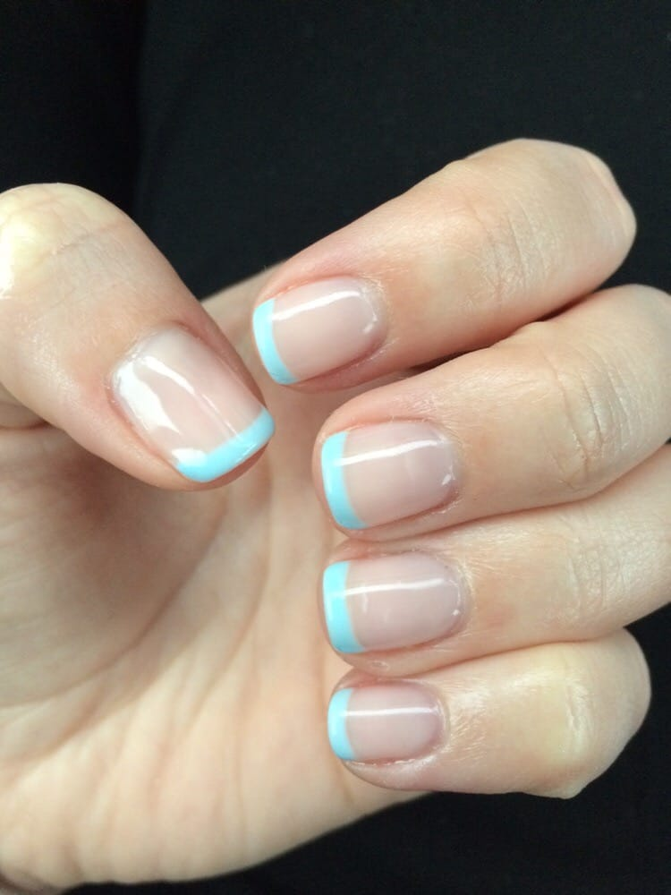 Photo Of H M Nails Spa Killeen Tx United States Light Blue French