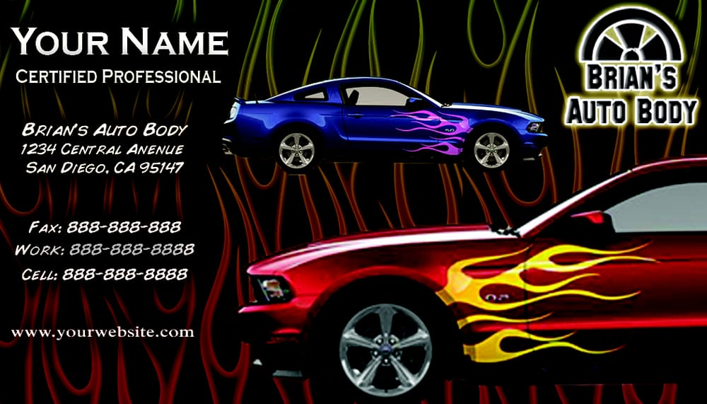 Auto Body Business Card Design - Yelp
