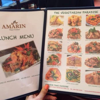 Amarin thai cuisine thai 174 castro st mountain view for Amarin thai cuisine menu