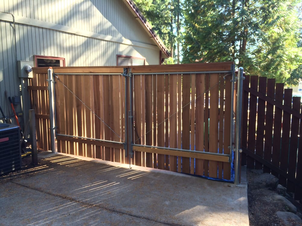 12 Ft Gate Built By Me With Custom Gate Kit And Wood From