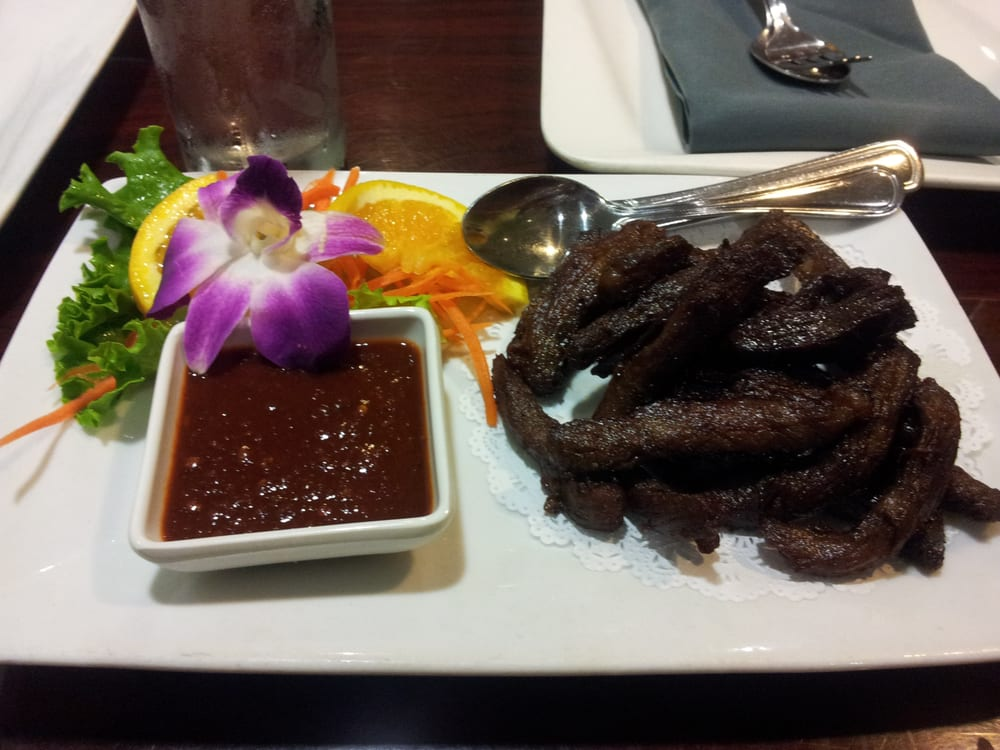 Thai beef jerky yelp for Ayara thai cuisine