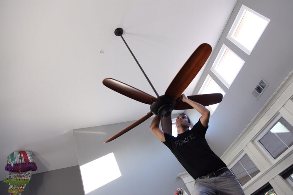 Photo Of Fiit Castle Rock Ca United States Hanging A Ceiling Fan