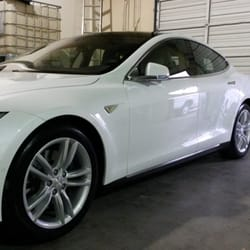 car detailing before and after. photo of before \u0026 after detailing - wake forest, nc, united states. tesla car and