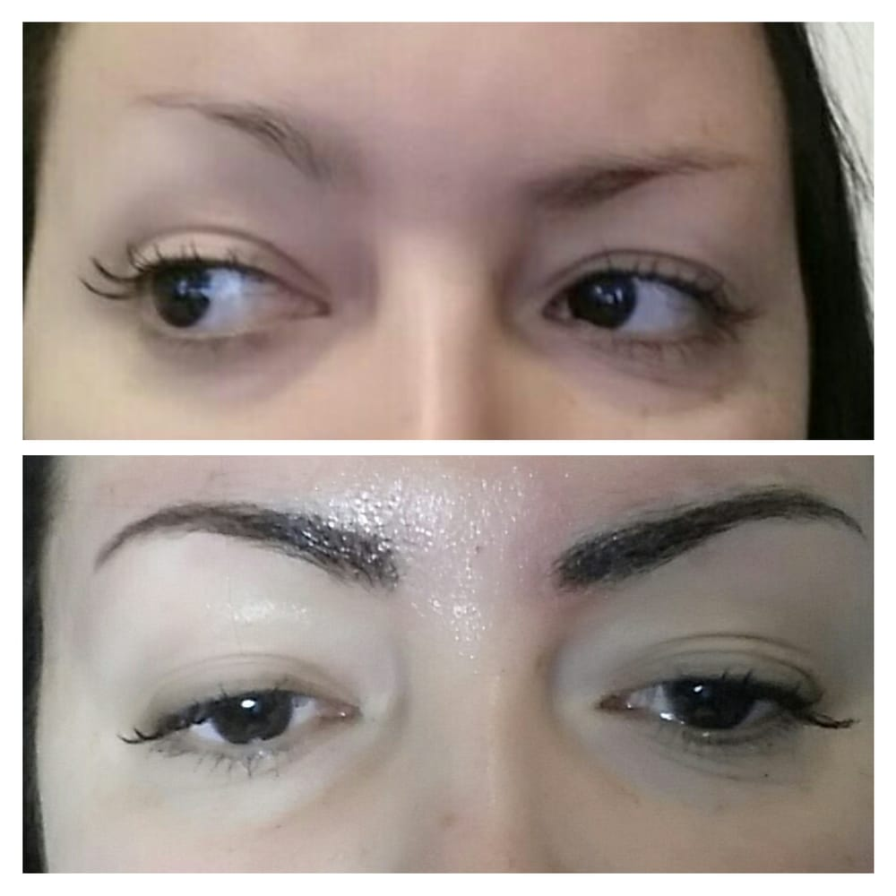 Permanent Eyebrow Makeup At Tq Spa Made By Irina Before And After